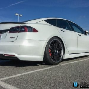 Unplugged Urethane Rear Under Spoiler: Tesla Model S (2012-2016.5)
