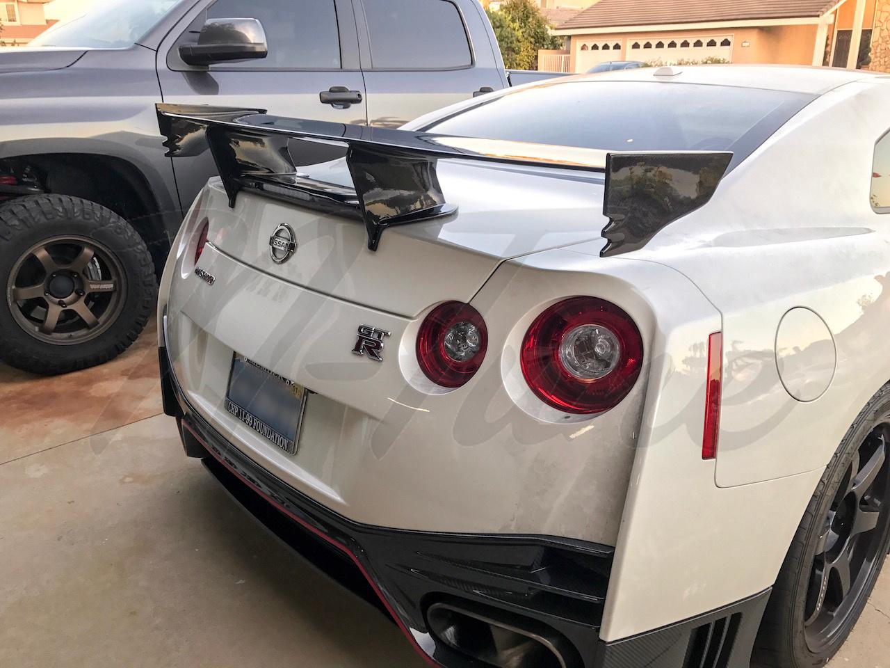 N Tune Rear Wing Carbon Fiber 2009 2017 Nissan R35 Gtr