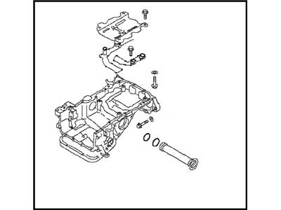 Nissan OEM 11110-38B0A Magnesium Upper Oil Pan VR38DETT: 2009-2017 Nissan R35 GTR