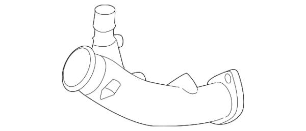 Nissan OEM 2012+ GTR Turbo Inlet Pipe Set: 2009-2011 Nissan R35 GTR