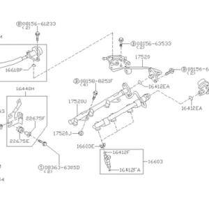 Nissan OEM 16618-EA000 Lower Injector O-Ring Seal VR38DETT: 2009-2016 Nissan R35 GTR
