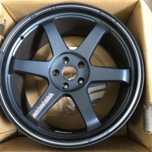 Used: Nissan R35 GTR Volk Racing TE37 Ultra Matte Blue Broken Set 20×10 +31 & 20×12 +20